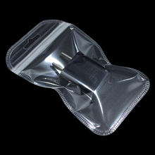 200pcs 24 Sizes Clear Plastic Zipper Lock Packing Bag with Hang Hole Reclosable Zipper Retails Transparent Packaging Pouches