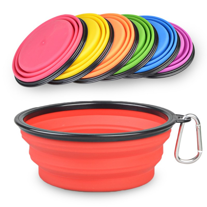 Portable Dog Pet Travel Collapsible Food Water Bowls Pets: Portable Outdoor Travel Bowl Pet Bowl Foldable Collapsible
