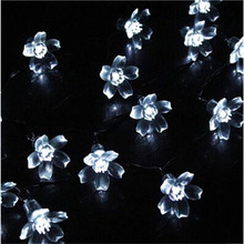 Bright 4M 20 LEDs Cherry Blossom  Christmas Led String Fairy light  Peach Flower Decorative Indoor Outdoor Garden Decoration