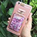 Las damas primero, cajas del teléfono para iphone 6 shokcproof líquido botella de perfume dinámico volver funda para el iphone 6 plus