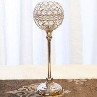 Luxury Candle Holders Candlestick Crystal Lamp Silver Decoration Home Nordic Accessories Mumluk Dekor Candle Vase Metal 50KO256