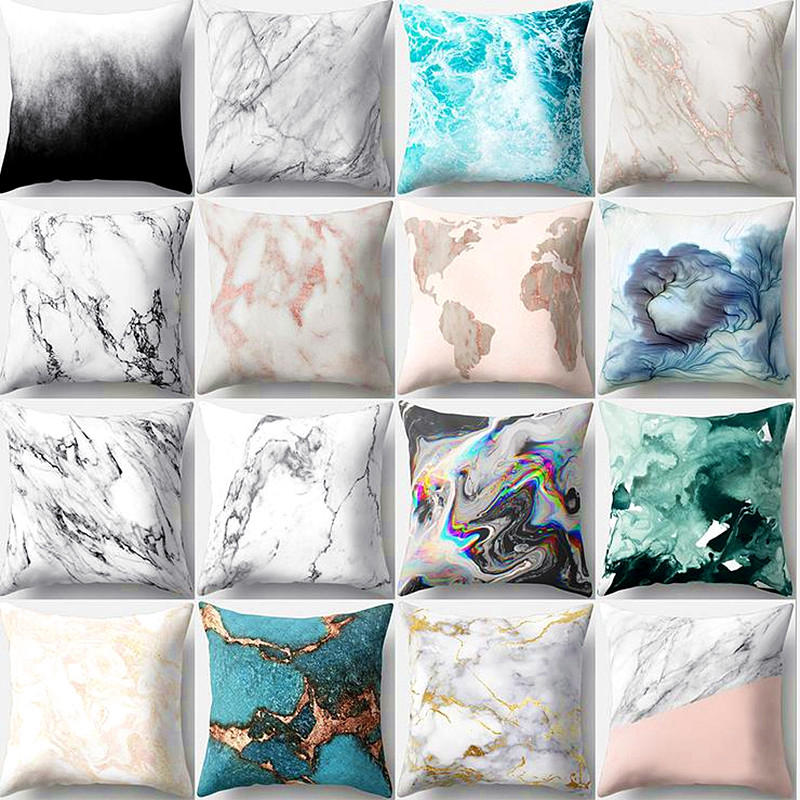 Urijk Marble Pattern Pillows Decorative Covers Cushion Cover Decorations for Home Pillow Sofa Cushion Covers New Year Decor