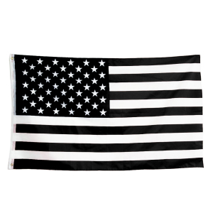 90*150cm Recession USA Black and White American Flag