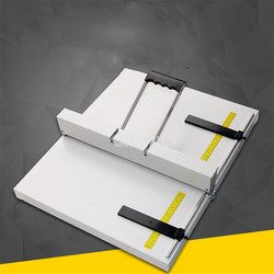 W kształcie litery U uchwyt ręczny ręczny urządzenie do bigowania papieru żłobkowania i cięcia linii wcięcia maszyna Max długość 350mm/450mm S350/ s450