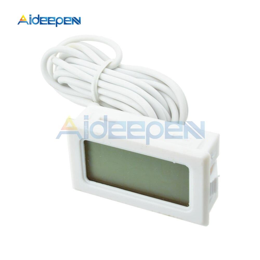 LCD Digital Thermometer Hygrometer for Freezer Refrigerator Fridge Temperature Sensor Humidity Meter Gauge Instruments Cable 11