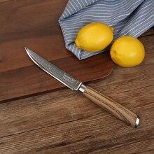 Sunnecko 5 zoll Utility Kochen Messer Damaskus Stahl Klinge Original Holzgriff Küchenmesser Japanischen Küchenchef Cooking