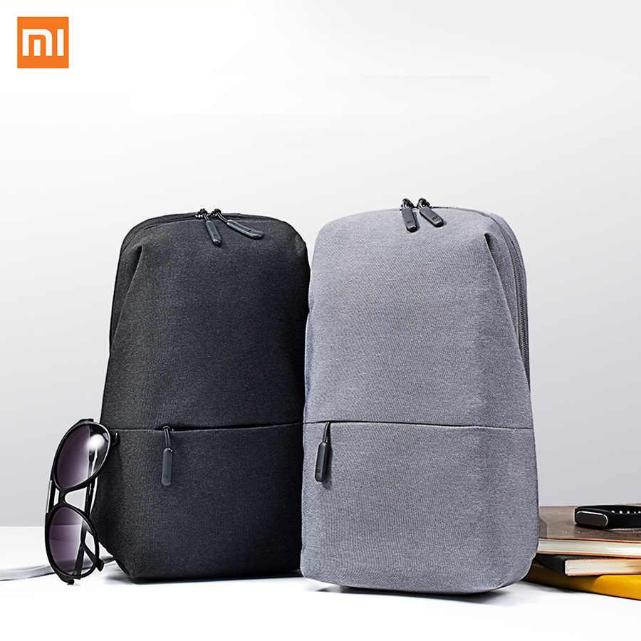 1e03aca9fb50 Xiaomi Mi рюкзак 4L мешок полиэфира городского отдыха спортивные Грудь  обновления сумки Для мужчин Для женщин