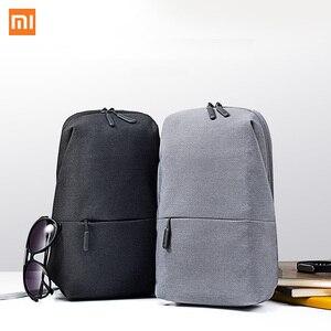 Image 1 - Xiaomi Mi sac à dos 4L Polyester sac loisirs urbains sport poitrine Pack sacs hommes femmes petite taille épaule unisexe sac à dos H34