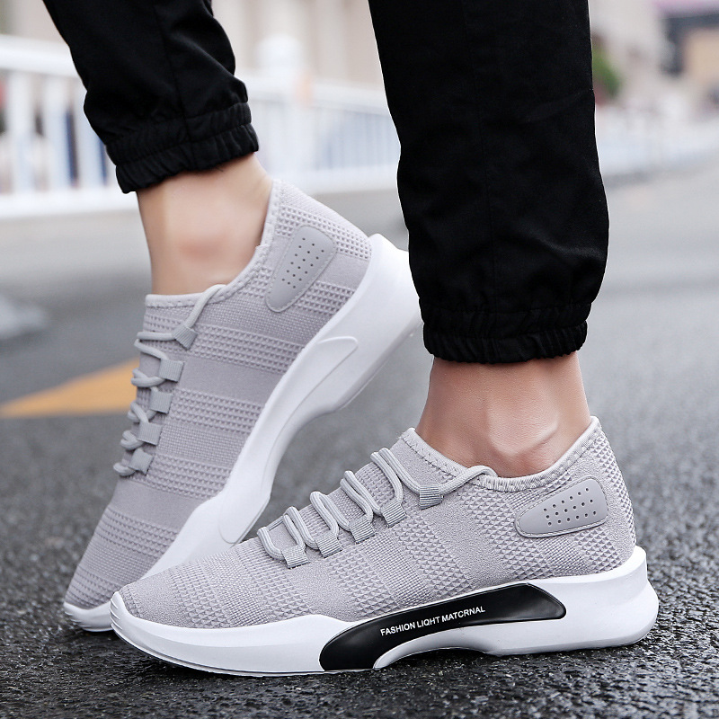 LAKESHI Brand Sneakers Men Shoes Casual Lightweight Breathable Slip-On Casual Shoes Men Fashion Footwear Male Shoes Adult Shoes Обувь