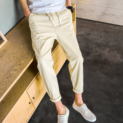 Men's Casual Pants 2018 Summer Men's Pants WXJ3