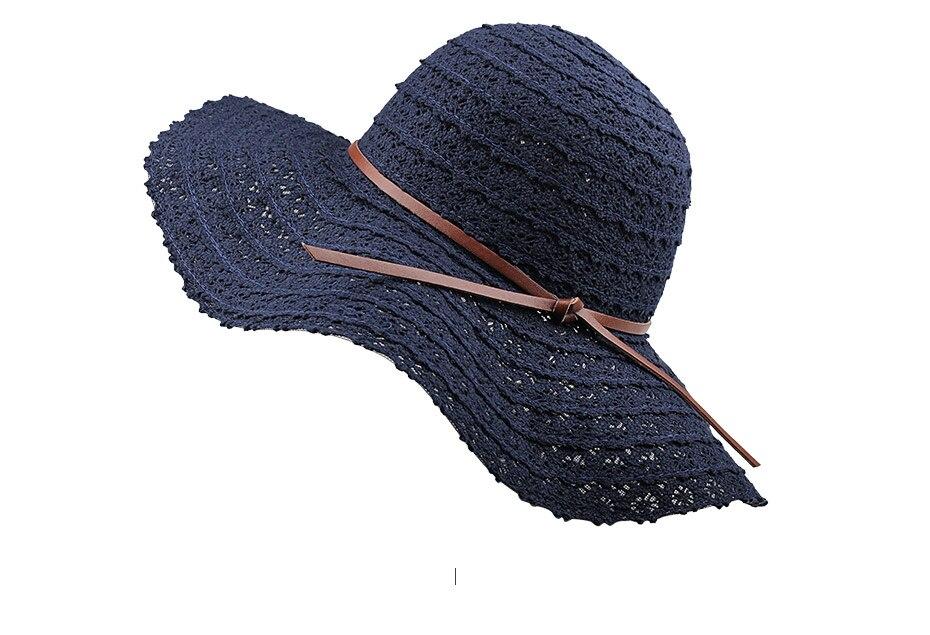 chapeau pour femmes coton paille chapeau plage soleil
