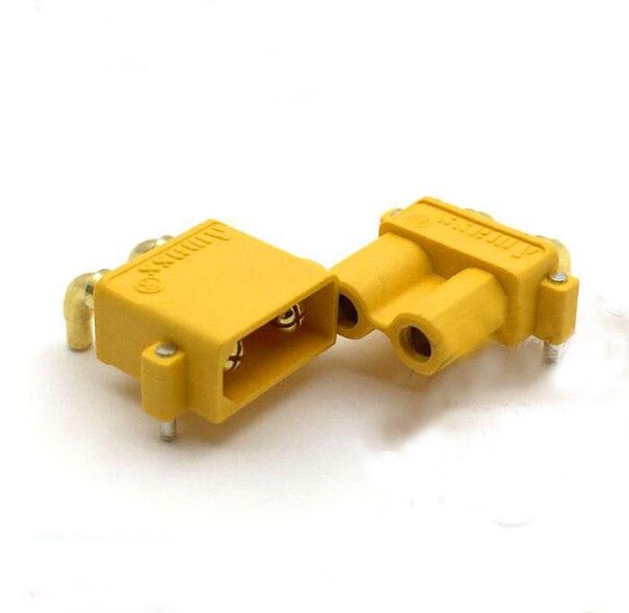 AMASS XT30PW Banana goldene XT30 Upgrade Rechtwinklig Steckverbinder männlich-weibliche ESC Motor platine steckverbinder für RC modell
