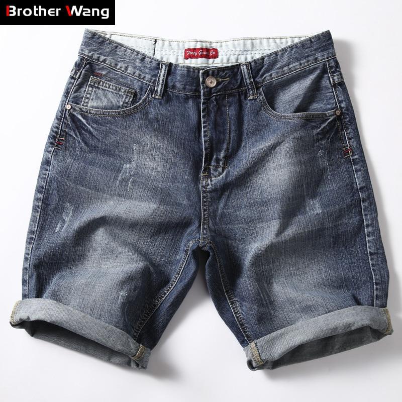 2020 Summer New Men's Denim Shorts Fashion Slim Fit Denim Classic Style Short Jeans Men Brand Clothes