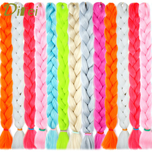 DIFEI 82  Jumbo Synthetic Braiding Hair Extensions Crochet Long Braids Bulk Pink Blue 20 Colors Available 165g/Pack