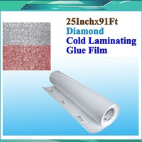 Diamond PVC Cold Laminating Film Bilayer Protect Photo for Cold Lamintor Film 25x31Yards