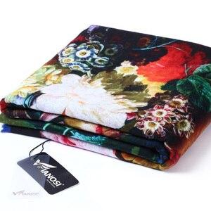 Image 5 - VIANOSI Bandana estampada para mujer, pañuelo de invierno, bufandas gruesas calientes de lana
