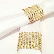 10szt diamentowe obrączki na serwetki