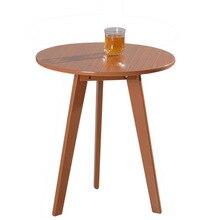Столы для кафе гостиничной мебели Массив дерева круглый журнальный стол сборка панели стол минималистическая Современная W48.5* H60cm/W60* H60cm/W60* H70cm