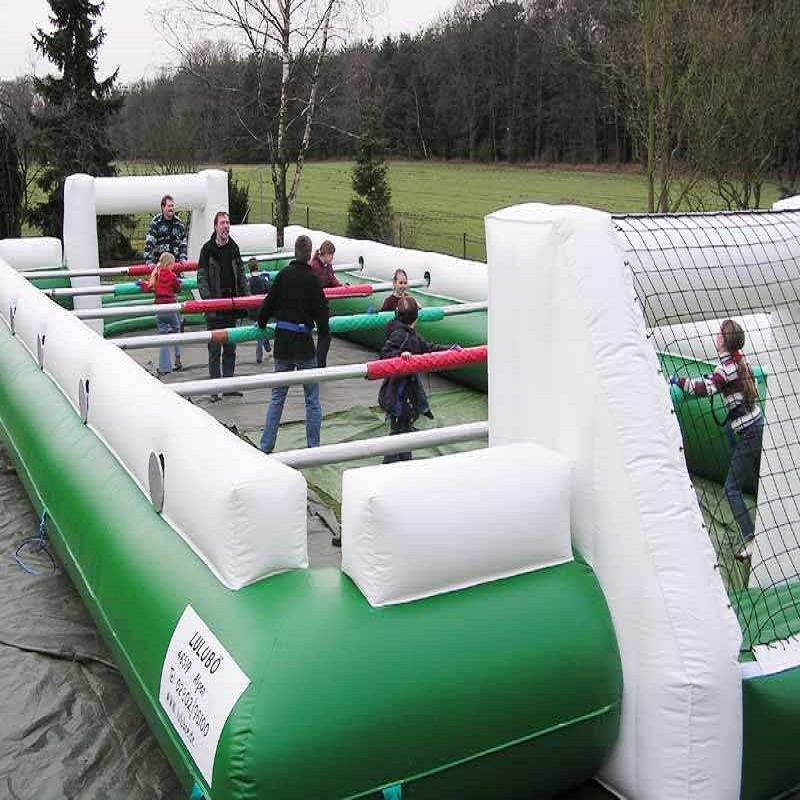 Inflatable football pitch size 10*6 M large outdoor inflatable recreation football game Inflatable Soccer court outdoor game