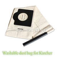 Vacuum Cleaner Cloth Bag Washable Dust Bag Replacement For Karcher K2150 K225 MV3P SE4001 T111 T151