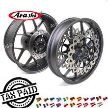 Arashi CBR1000RR 2006-2016 Front Rear Wheel Rim Brake Disc Rotors For HONDA CBR1000 CBR 1000 RR 06 07 08 09 10 11-16 Gold Black