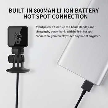 1080P IP camera S1 Mini Wifi Camera Motion Detection Night vision 140 degree Monitor Home Safe Surveillance Sport Recorder - DISCOUNT ITEM  22% OFF Security & Protection