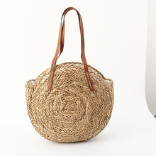 8c377fc44767 2018 Basket Women Round Straw Bags Beach Tote Handbag for Braided shoulder  rattan designer brand wicker cc big woven bohemian