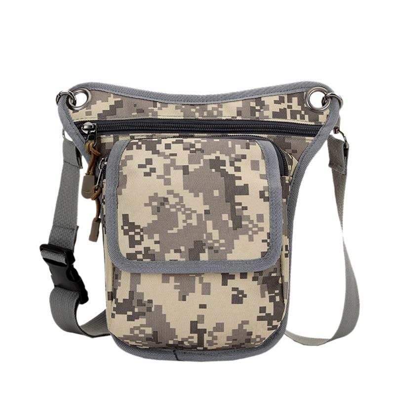 Men Canvas Tactical Military Panel Utility Waist Belt Pouch Bag Purse Leg Bag