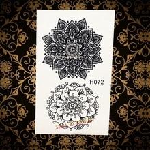 Hot Hennna Sunflower For Sexy Women Body Beauty & Health AH072 Lotus Flower Lace Mehndi Temporary Compass Tattoo Sticker
