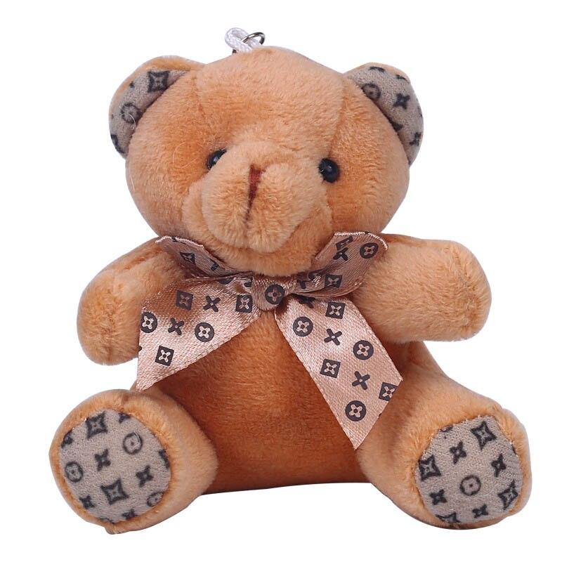 1 Piece Hot 10CM Kawaii Small Teddy Bears Plush Toys Stuffed Animals Fluffy Bear