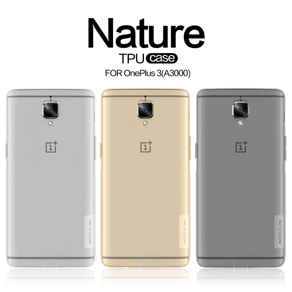 sneakers for cheap 735ca 9a1cb US $6.52 |Case For OnePlus 3 One Plus 3T Original NILLKIN Nature  Transparent Clear Soft Back Cover Case For OnePlus 3T Three One Plus 3-in  Fitted ...