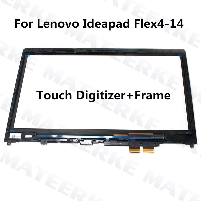 With Frame 14 inch For Lenovo Ideapad Flex4-14 Flex4 14 Flex 4 14 Touch Screen Front Panel Digitizer Replacement Flex 4-14 free shipping for lenovo yoga 500 14 for lenovo flex 3 14 flex 3 14 replacement touch screen digitizer glass 14 inch black
