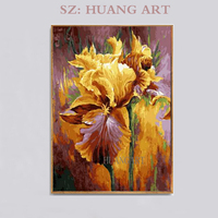 Impressionist Style Pure Hand painted High Quality Yellow Rose Flower Oil Painting Beautiful Flowers Oil Painting for Wall Decor