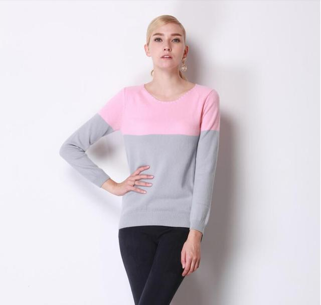 100%Cashmere Sweater Women O-neck Pullover Natural Fabric Soft Warm Gray Pink sweaters High Quality Clearance Sale Free Shipping