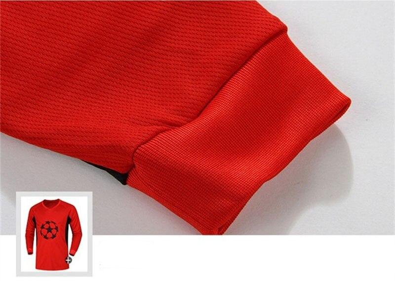 Для мужчин Футбол вратарь, мужчина с длинным рукавом губка защитный Sportsuit Футбол вратарь одежда спортивный костюм, Футбол обучение униформа