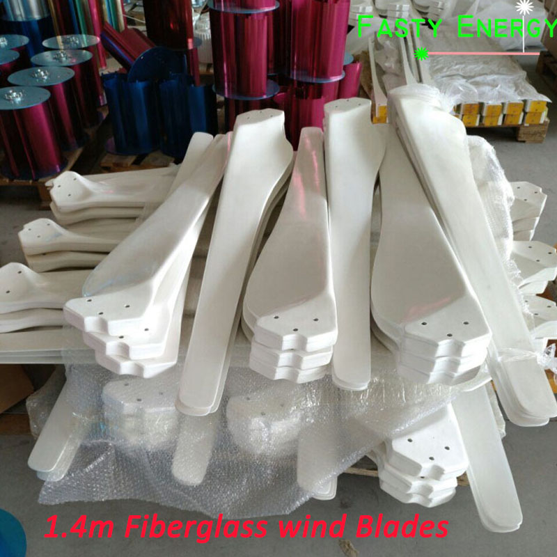 New Energy high strength fiber glass blades for 2kw wind generator turbine accessories 1.4m length*3 blades DIY Factory selling