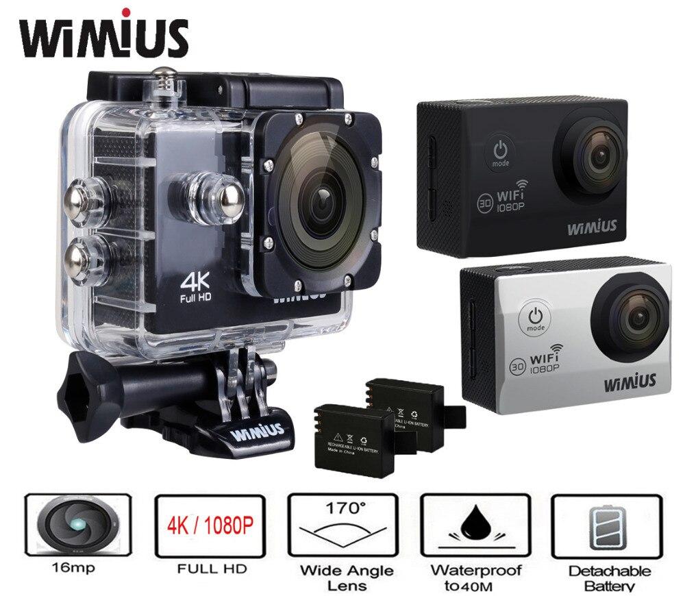 Wimius q1 q2 2.0 pulgadas 4 k 1080 p hd cámara de acción deportes camara Mini Ca