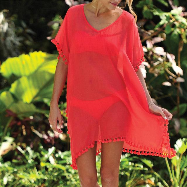 Woman Beach Dress Bikini Swimwear Tunic Swimsuit Dress