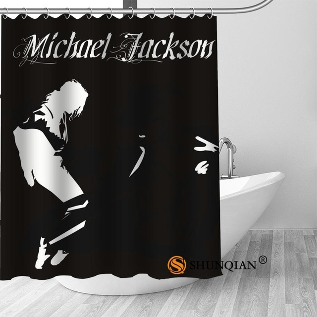 6 Michael jackson shower curtain washable thickened 5c64f7a44eda9