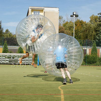 Free Shipping Durable 1.2m Inflatable Football Bubble Ball Bumper Ball Body Zorbing Bubble Soccer Human Bouncer Bubbleball Zorb