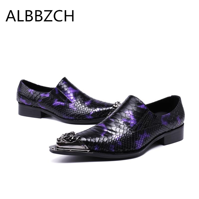New mens fashion pointe tod lace up embossed leather shoes men loafer luxury metal design career work shoes purple wedding sheosNew mens fashion pointe tod lace up embossed leather shoes men loafer luxury metal design career work shoes purple wedding sheos