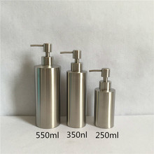 1pc 304 Stainless Steel Liquid Soap Dispenser Hand Sanitizer Bottle for Bathroom Kitchen Countertop Bathroom Accessory WY-004