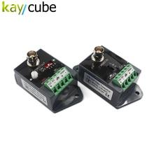 2 pces (1 par) de longa distância 1 canal de vídeo ativo balun vídeo transceptor para cctv cvi tvi tvi cvbs transmissor canal único