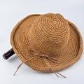 Специальное Предложение Для Взрослых 2016 Летние Шляпы Для Женщин Джаз Caps Панама Fedoras Top Пляж Козырек Шляпа Соломенная Шапка Краткое Сплошной Большой По