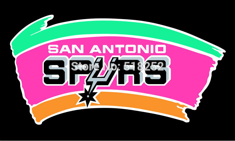 San Antonio Spurs Flag 3x5 FT 150X90CM Banner 100D Polyester NBA flag 020, free shipping