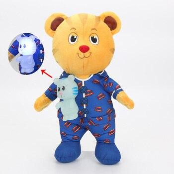 Светодиодная лампа для детей, говорящий звук, тигр, плюшевые игрушки, 30 см, подарок на день рождения