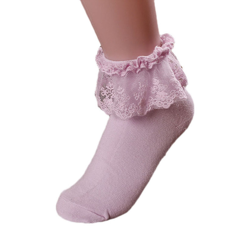 HTB1H4M2wUOWBKNjSZKzq6xfWFXaH - Retro Pink Lace Ankle Ruffle Socks Women Ladies Girl Fashion Vintage
