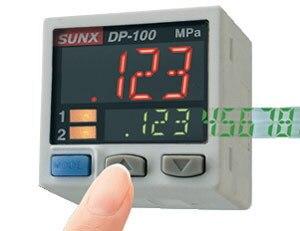 Sunx New In Box Digital Pressure Sensor DP-102 dhl ems 5 sets 1pc original sunx sensor cable 2m cn 73 c2 new in box