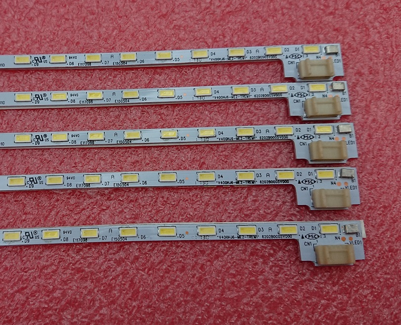 100 New 5 PCS 52LED 490mm LED backlight bar V400HJ6 ME2 TREM1 V400HJ6 ME2 TREM2 for