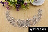 חגורת שרשרת קריסטל Applique תיקוני ריינסטון יהלומים באיכות גבוהה עבור אביזרי קישוט החתונה שמלת כלה